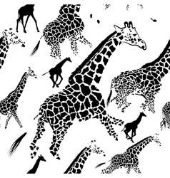 Seamless pattern background giraffe skins vector