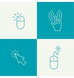Set icon Computer mouse vector image vector image