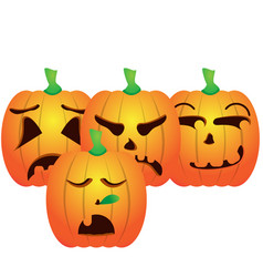 Set of jack-o-lanterns vector