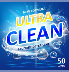 Soap ultra clean design product toilet or vector