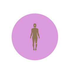 Stylish icon in color circle symptoms of vector