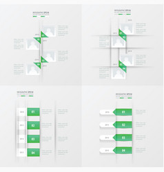 Timeline 4 item green gradient color vector