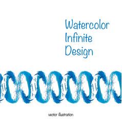 watercolor infinite design vector image vector image