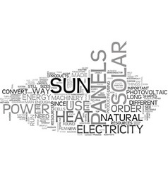 Why are solar panels important text word cloud vector