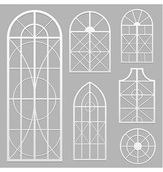 Window set white vector