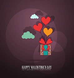 With love and giftbox vector