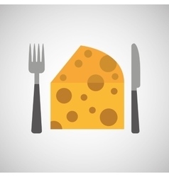 food fresh eating cheese vector image