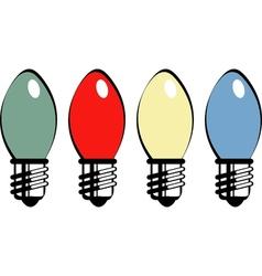 Retro bulbs vector image