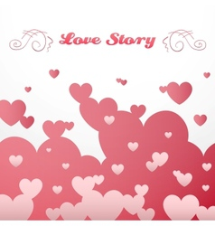 Pink and red heart shape background vector