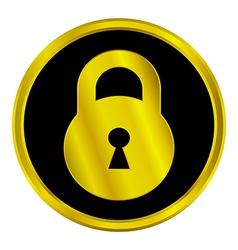Lock sign button vector