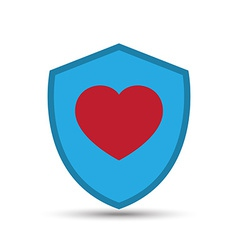 Love heart shield vector