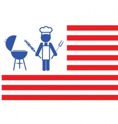 flag of barbecue vector image