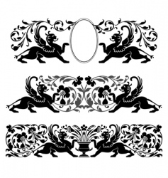 Antique heraldic ornaments vector