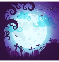 Halloween poster and card vector image