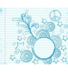 fancy doodle vector image