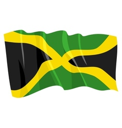 Political waving flag of jamaica vector