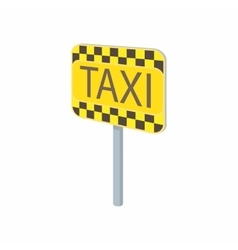 Taxi sign icon in cartoon style vector