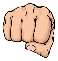 a fist punching towards you vector image vector image