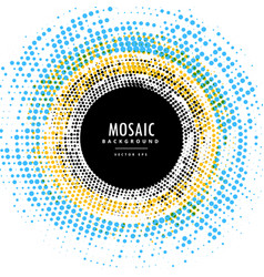 Abstract circle mosaic background effect vector