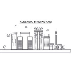 Alabama birmingham architecture line skyline vector