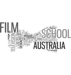 Australia film school text word cloud concept vector