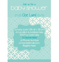 Baby-Shower Classic Aqua vector image vector image