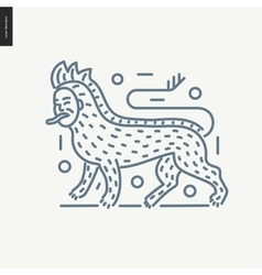 Bestiary outlined icon vector image vector image