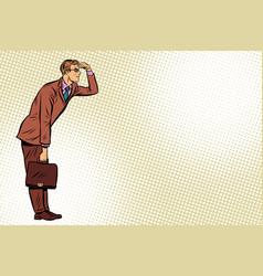 businessman looking forward watch vector image vector image