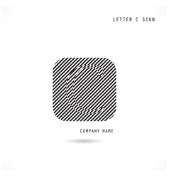 Creative letter c icon abstract logo design vector