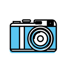 cute digital camera to take a picture vector image