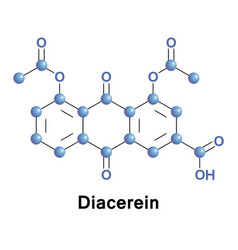 diacerein or diacetylrhein anthraquinone vector image vector image