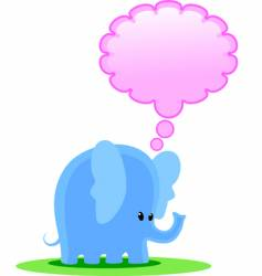 elephant thinks vector image vector image