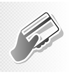 Hand holding a credit card new year vector