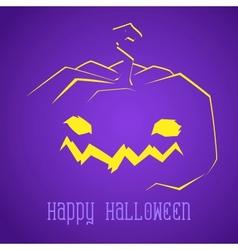 Happy Halloween Smiley Pumpkin vector image vector image