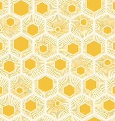 Honeycomb pattern design yellow background vector