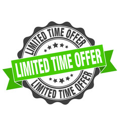 limited time offer stamp sign seal vector image vector image