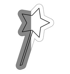 Magic wand icon vector