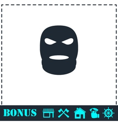 Mask icon flat vector