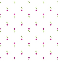 Paper Trendy Flat Flower Pattern EPS8 vector image