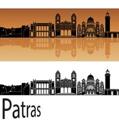 Patras skyline in orange vector image vector image