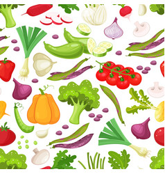 raw vegetables with sliced pepper eggplant garlic vector image vector image