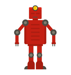 Red robot icon isolated vector