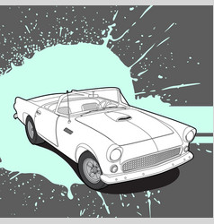 Retro car on bright background vector