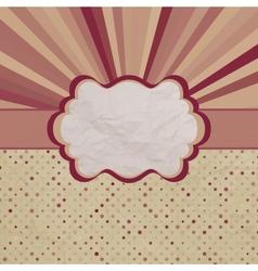 Retro Sun burst Card vector image