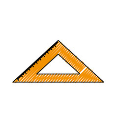 Rule school isolated icon vector