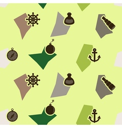 seamless background with pirate stuff vector image vector image