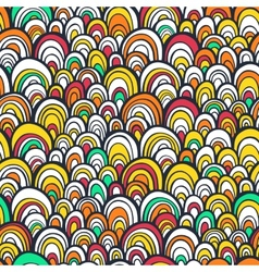 Seamless pattern with colorful abstract scale vector