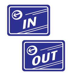 Sign in and out vector