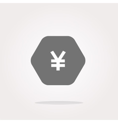 web icon on protection sign with yen money sign vector image vector image