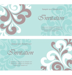 Wedding Invitation floral card vector image vector image